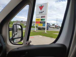 Die Gasversorgung für das Wohnmobil in Kanada, Halifax, Nova Scotia (Canada)