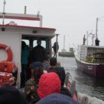 Eine Runde Boot fahren