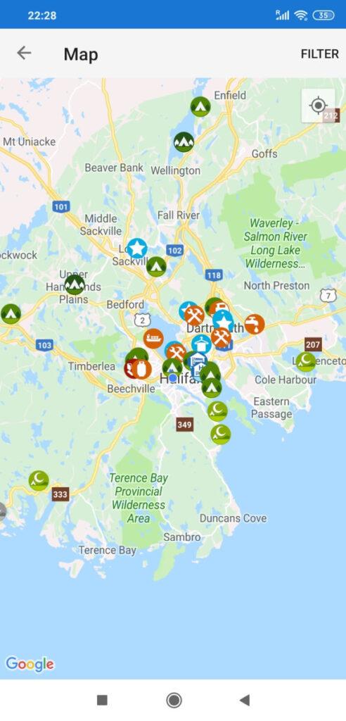 iOverlander Karte