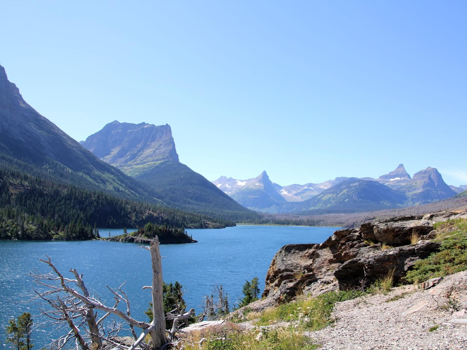 20.08.2019 bis 28.08.2019: Die Fahrt in den Westen voll langweilig! Der erste USA Nationalpark Glacier!