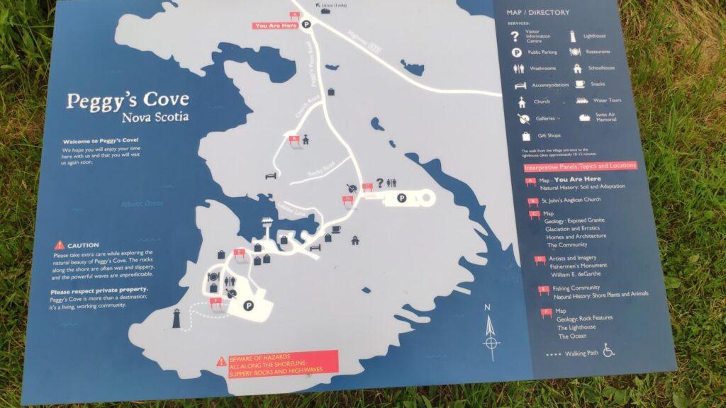 Karte von Peggy's Cove