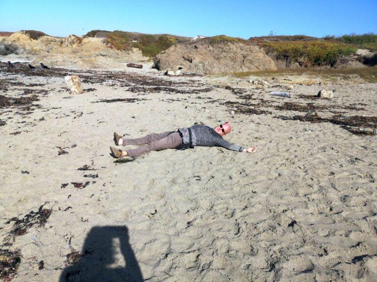 Maik am Strand
