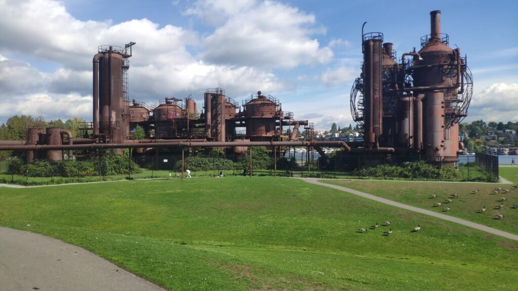 Seattle altes Gastwerk schöner Park