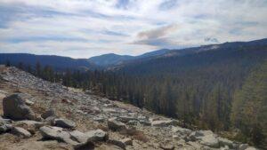 Yosemite Geröll am Berg