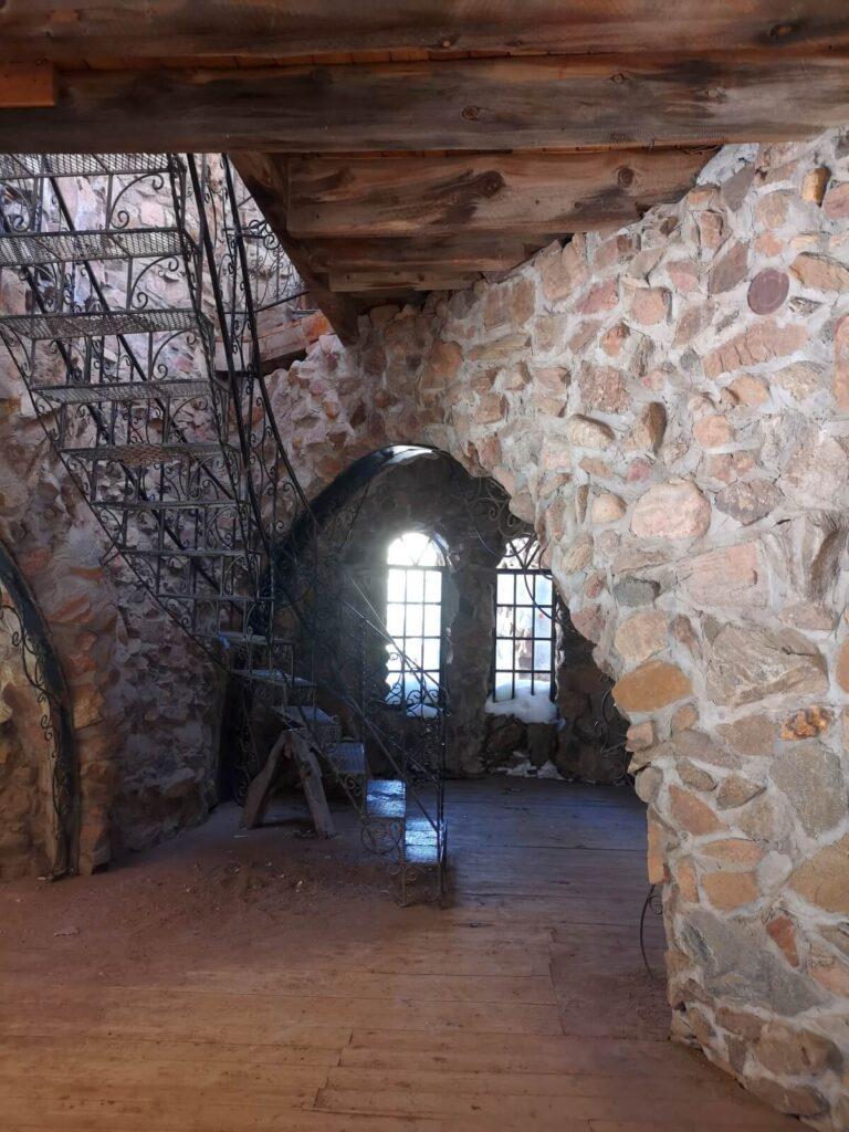 Treppe im Inneren des Castle