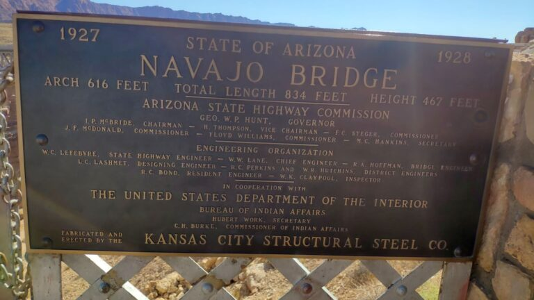 Navaho Bridge Schild