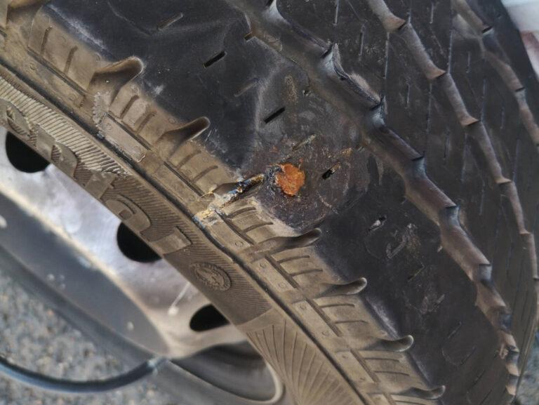 Reifen repariet