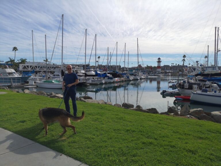 Maik und Kaschmir im Hafen