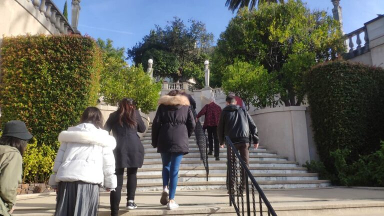 Hearst Castle Aufgang Treppe