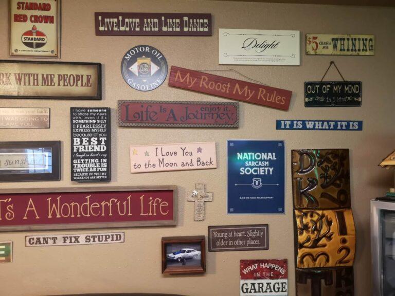 Parker Werkstatt Schilder
