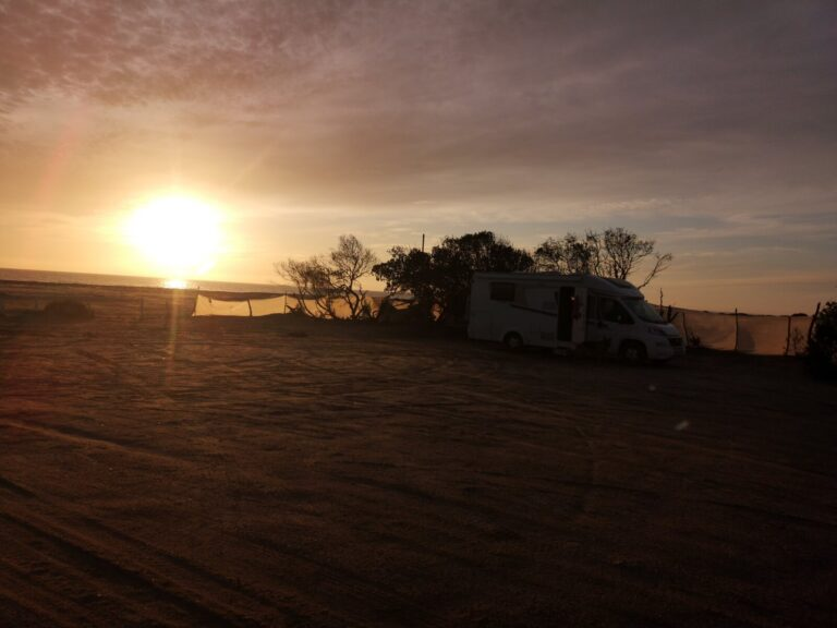 Sonnenuntergang Campingplatz