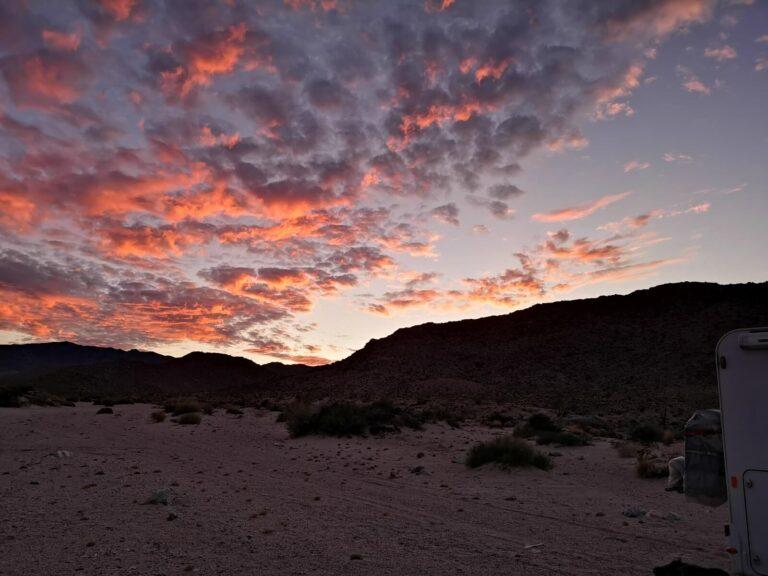 Sonnenuntergang Ocotillo Camp
