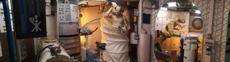 Astronauten an Bord