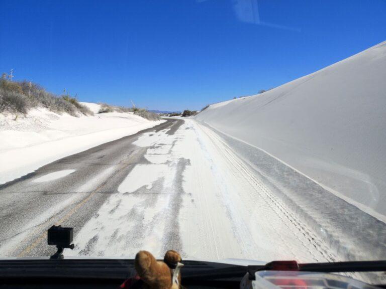 Fahrt durch den Sand