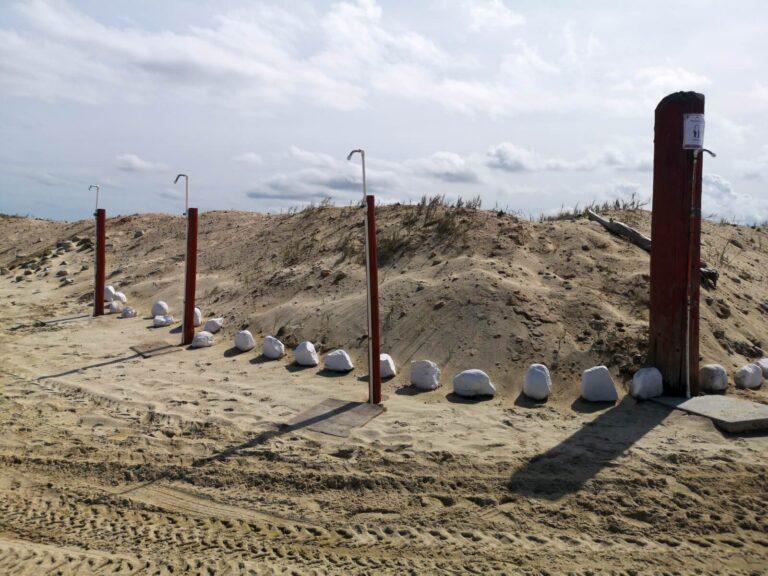 Playa la Ribera Duschen