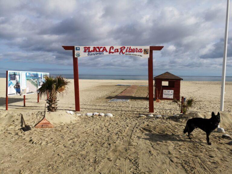 Eingang Playa La Ribera