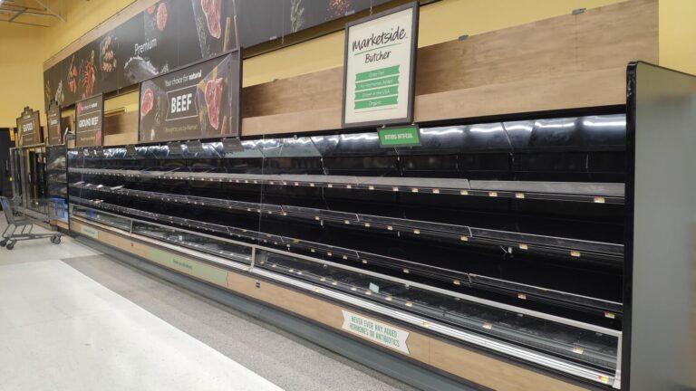 Walmart Fleisch leer