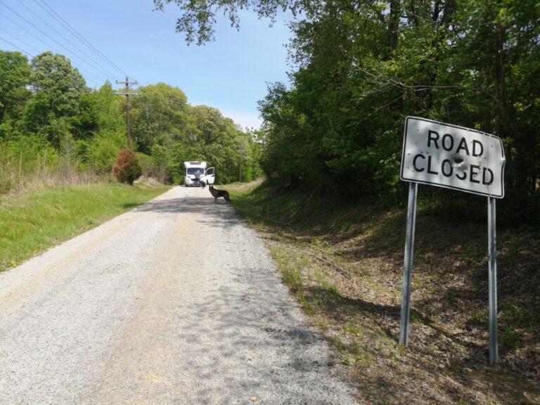 Road Closed Solar Rest Area