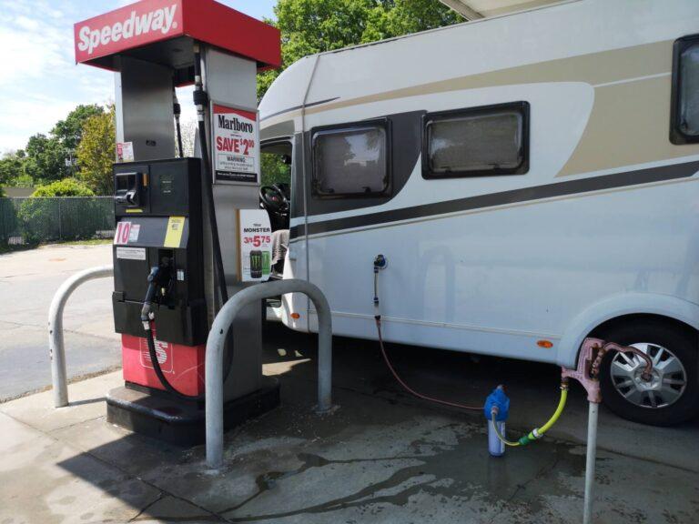Speedway North Carolina Wasser tanken