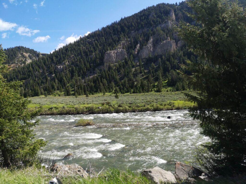 Fluss in Montana