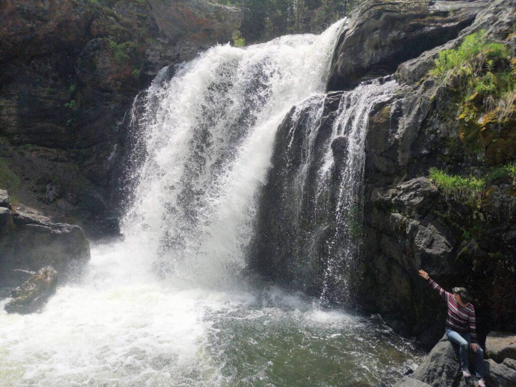 Iris Wasserfall Yellowstone