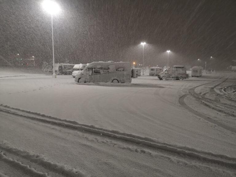 Laramie im Schnee
