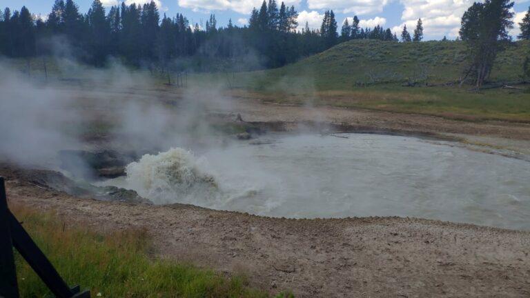 Churning Caldron Yellowstone