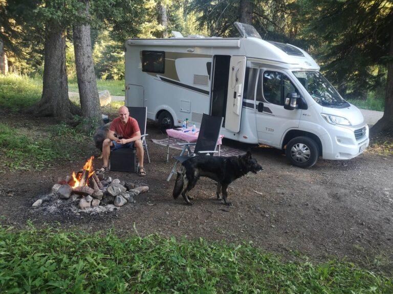 Gallatin Campground Feuerstelle