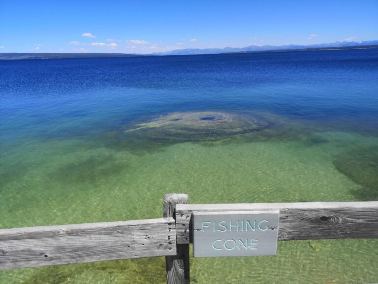 Yellowstone Lake Fishing cone