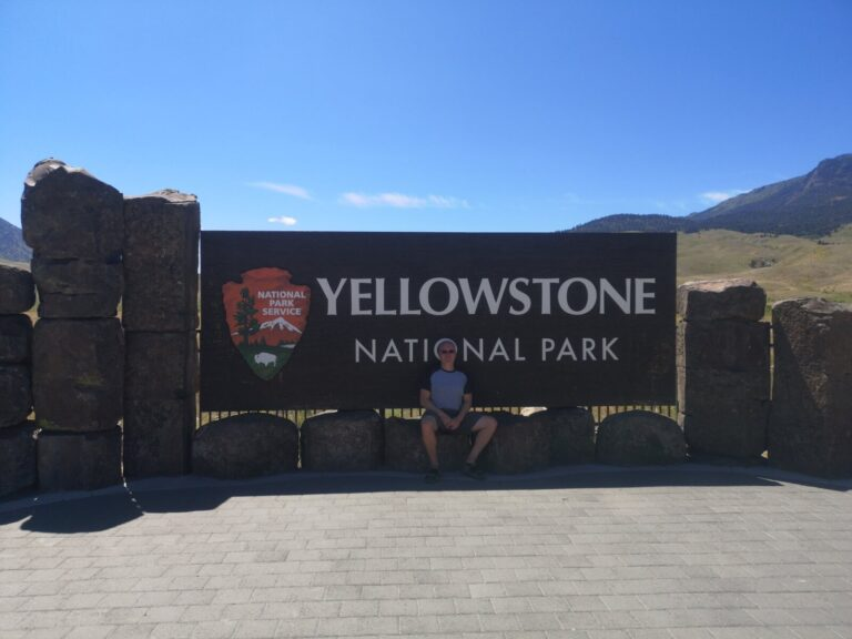 Yellowstone NP Schild
