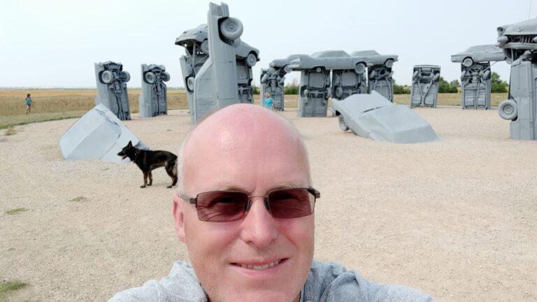 Eierkopp Selfie Carhenge