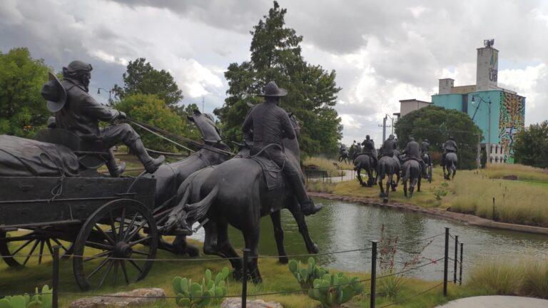 Oklahoma Land Run Flußüberquerung