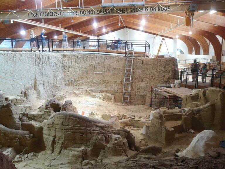 Tiefe der Ausgrabung Mammoth Site