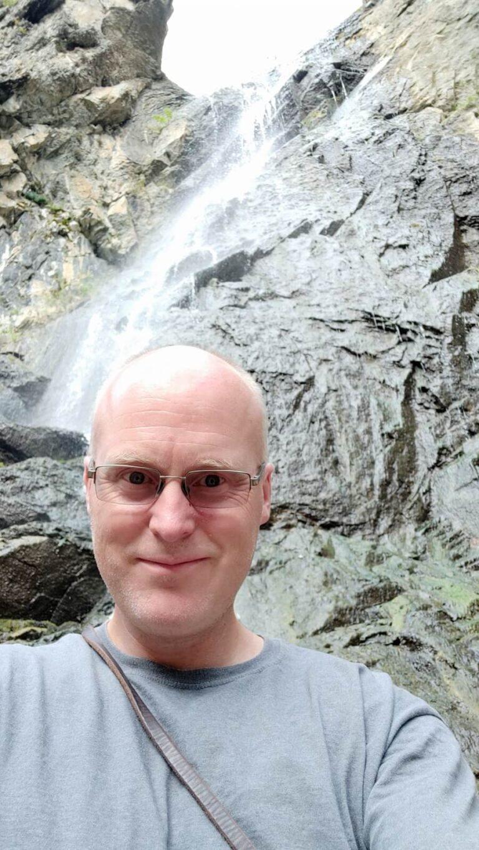 Wasserfall Selfie South Dakota