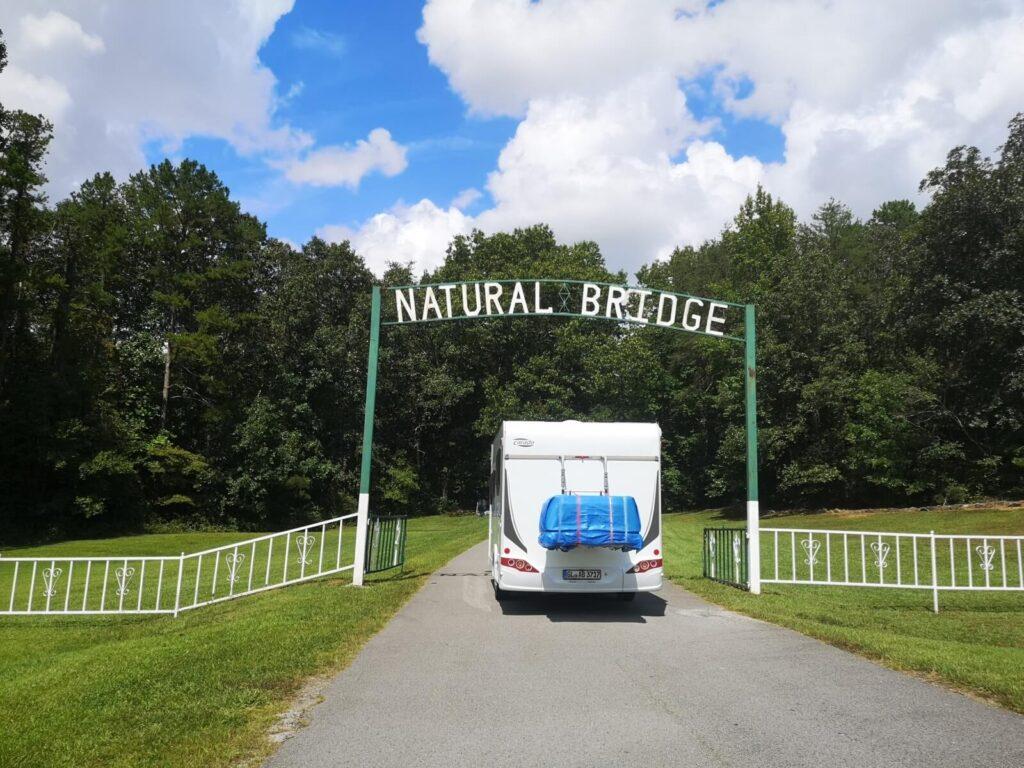 Natural Bridge Alabama Eingang